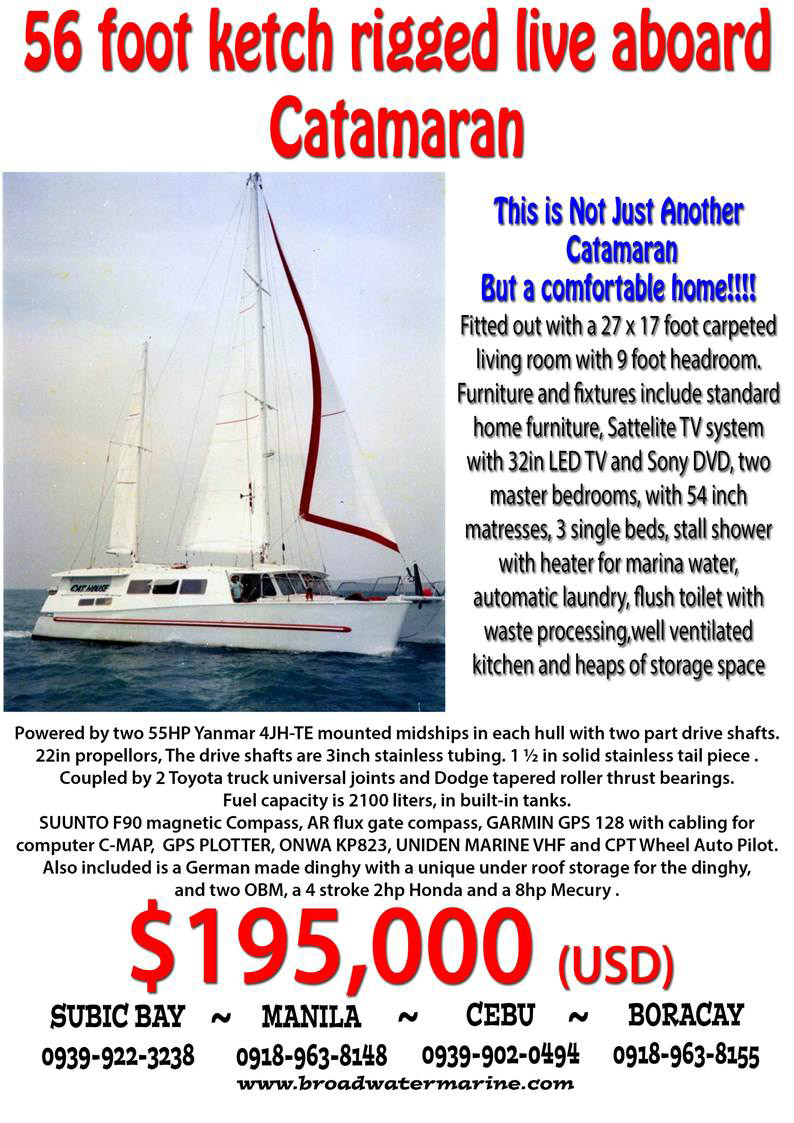 sailboats  sale philippines cruising yachts catamaran trimaran
